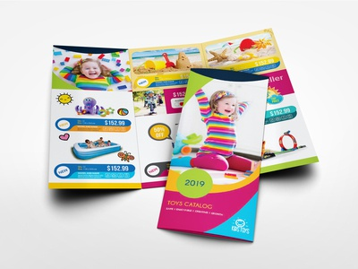 Toys Products Catalog Tri Fold Brochure Template