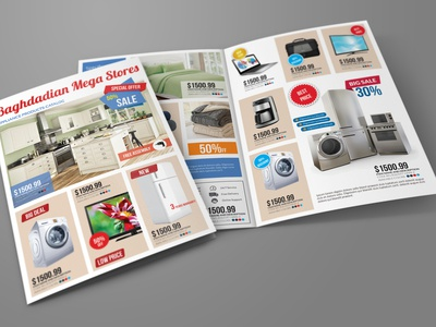 Products Catalogs Bi Fold Brochure Template
