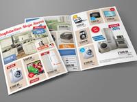 Products Catalogs Bi Fold Brochure Template