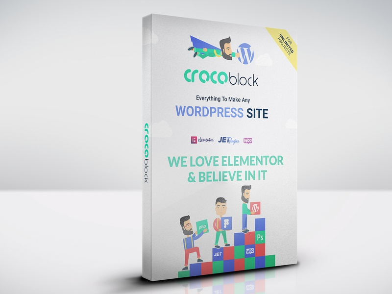 Crocblock: Best Plugins for Elementor by OWPictures on Dribbble
