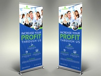 Corporate Signage Banner Roll Up Template