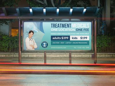 Medical Care Billboard Template
