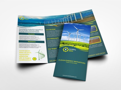 Power Energy Services Tri Fold Brochure Template