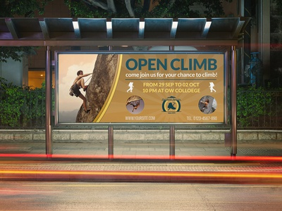 Climbing Sport Billboard Template
