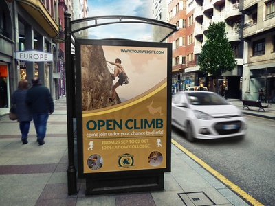 Climbing Sport Poster Template