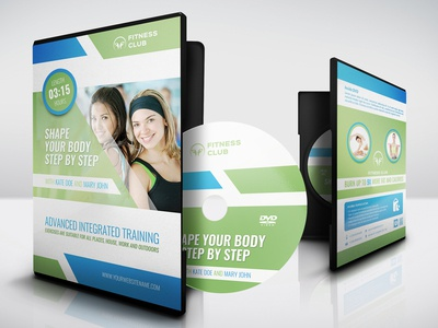 Fitness Training Course Dvd Cover Template