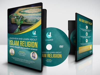 Islamic DVD Cover and Label Template quran quraan prayer muslim mosque mohammed memorization masterwork islamic islam festival exhibition eid dvd culture ceremony cd art antique allah