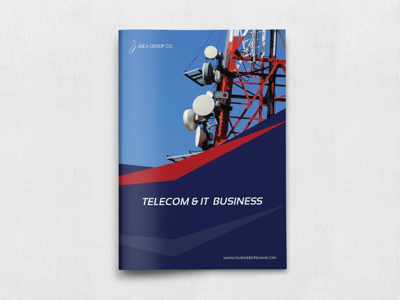 Telecom Services Brochure Template speed service servers radio provider it internet email services ecommerce e commerce construction company profile company brochure company communication clean catalog cables brochure template booklet