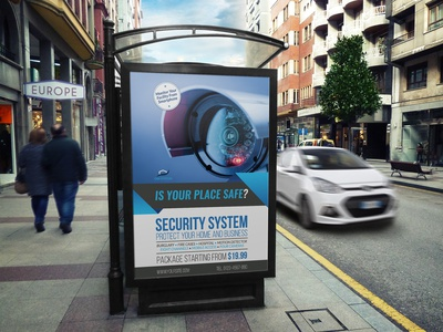 Security System Poster Template