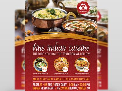 Indian Restaurant Flyer Template