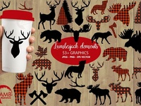 Lumberjack clipart, graphic, illustration, AMB-2315