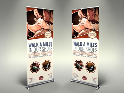 Cobbler Signage Banner Roll Up Template