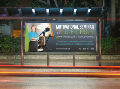 Seminar Billboard Template