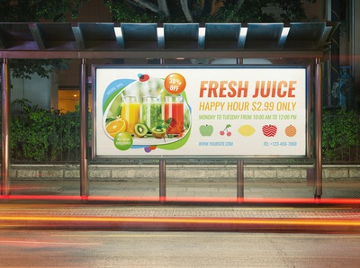 Fresh Juice Billboard Template