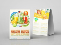 Fresh Juice Table Tent Template