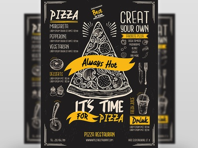 Pizza Restaurant Flyer Template lasagna italy italian food italian food flyer fast food drink delicious creative coffee shop coffee clean design clean cafe burger antipasti advertising advert ad