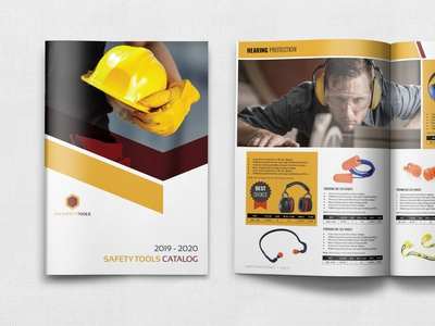 Safety Tools Catalog Barochure Template - 24 Pages