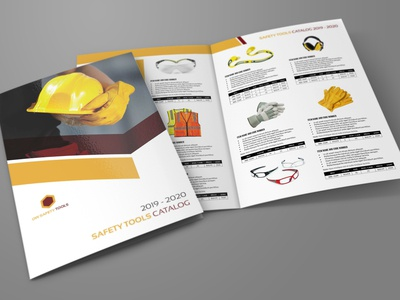 Safety Tools Catalog Bi Fold Brochure Template