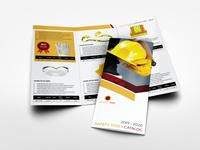 Safety Tools Catalog Tri Fold Brochure Template