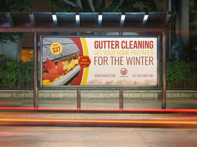 Gutter Cleaning Services Billboard Template