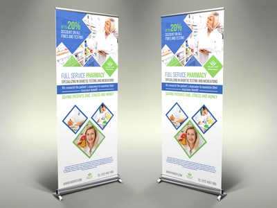 Pharmacy Signage Banner Roll Up Template