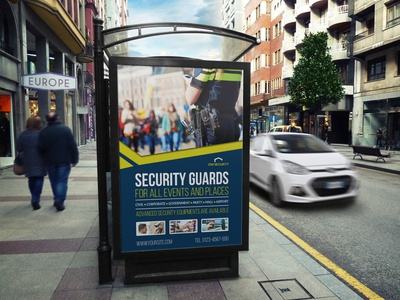 Security Guard Poster Template