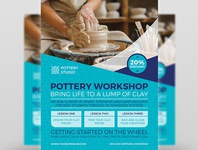 Pottery Workshop Flyer Template
