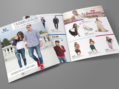 Fashion Catalog Bi Fold Brochure Template