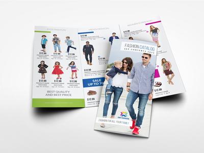 Fashion Catalog Tri Fold Brochure Template