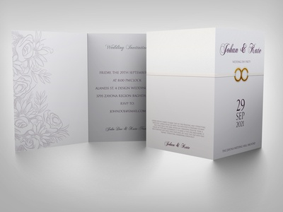 Weeding Invitation Card Template