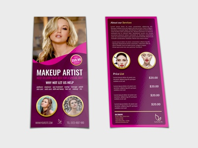 Beauty Center Flyer DL Size Template