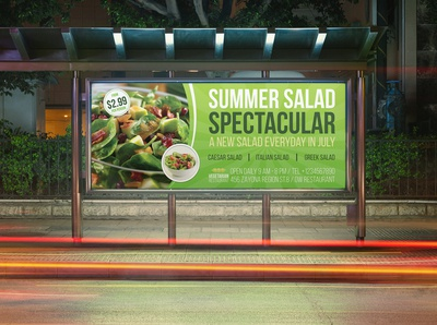 Salad Restaurant Billboard Template