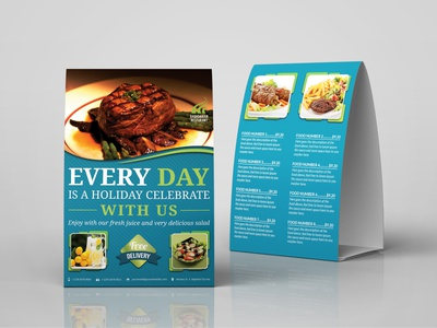 Restaurant Table Tent Template print template orange modern menu modern menu design menu list hotel menu food menu food fast food fabric texture elegant design creative cool coffee chicken food cafe table tent cafe