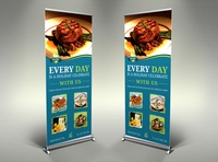 Restaurant Signage Banner Roll Up Template
