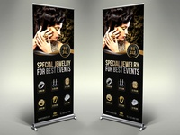 Jewelry Signage Roll Up Banner Template