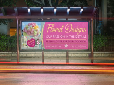 Floral Designs Billboard Template