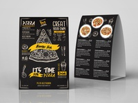 Pizza Table Tent Template