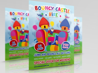 Bouncy Castle Hire Flyer Template