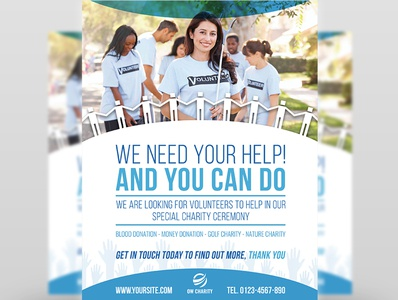 Volunteer Flyer Template
