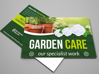 Garden Services Postcard Template