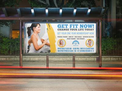 Fitness GYM Billboard Template