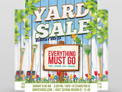 Yard Sale - Garage Sales Flyer Template