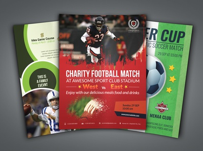 Football Soccer Sport Flyer Bundle Template