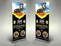Extreme Sport Signage Banner Roll Up Template