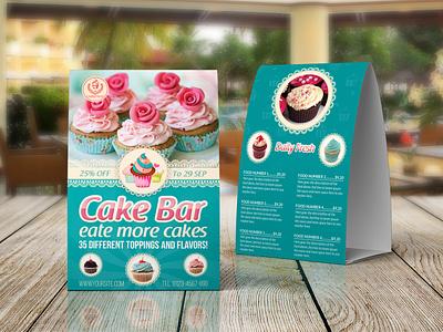 Cake Shop Table Tent Template menu design menu list ice cream hotel menu hotel food menu food flyer fast food dessert design cupcake coffee catering cake shop cafe business bakery menu