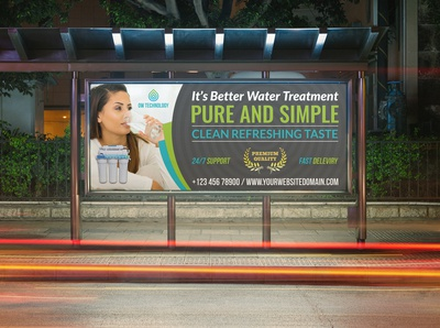 Water Treatment Services Billboard Template