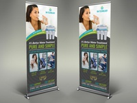 Water Treatment Services Signage Banner Roll Up Template
