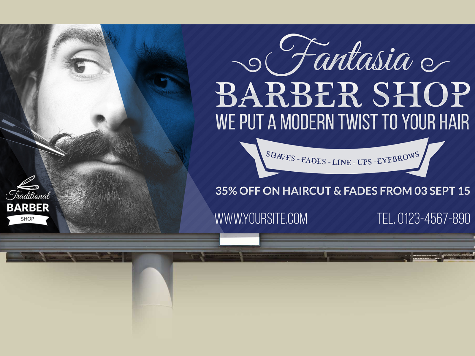 Barber Shop Billboard Template By Owpictures On Dribbble