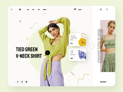 Fashion e-commerce product page interaction store app interactive design interaction design estore product design product page product homepage web girls fashion store eccomerce branding illustration design motion animation ux ui