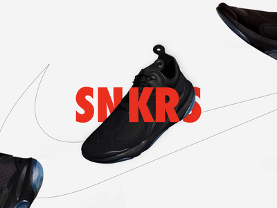 SNKRS Nike video illustrated interaction design promotional snkrs application design userinterface branding nike shoes interaction animation motion design interaction design promotional design promo illustration motion animation mobile design ui